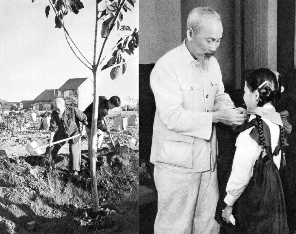 """Lời Hồ Chủ tịch: """"Vì lợi ích mười năm phai trồng cây. Vì lợi ích trăm năm phải trồng người""""."""