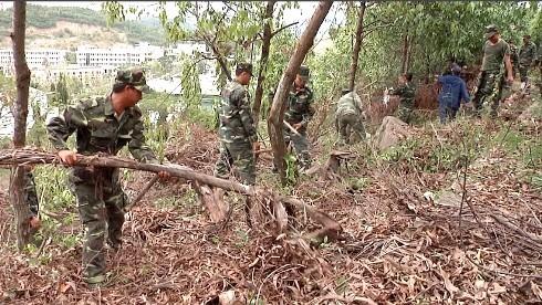 images5338174 NT3 - Đoàn viên lực lượng vũ trang tỉnh làm vệ sinh nghĩa trang liệt sĩ Hòn Dung