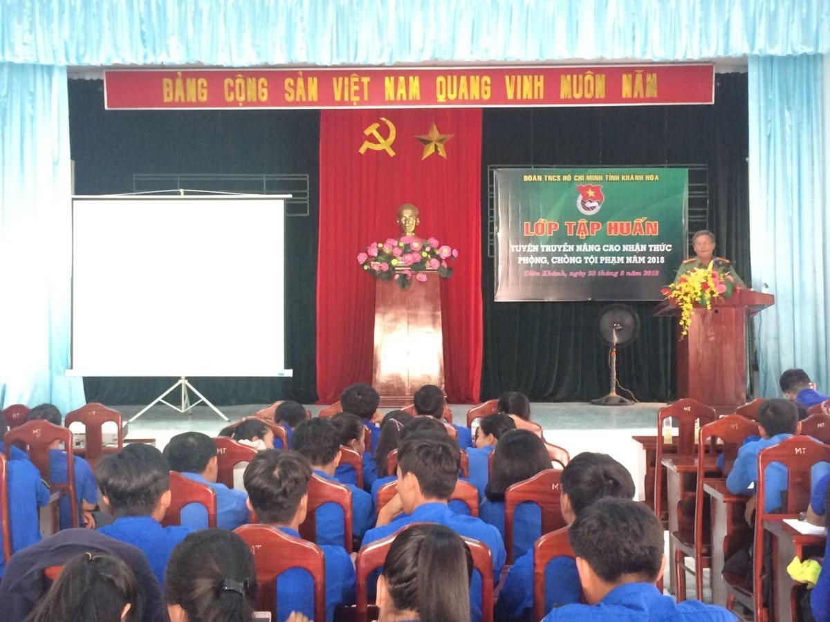 Khánh Hòa: Tập huấn tuyên truyền nâng cao nhận thức phòng, chống tội phạm trong đoàn viên thanh niên