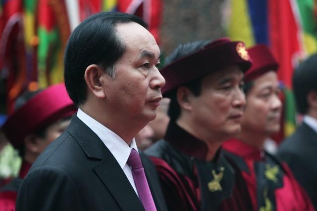 ctn tran dai quang dang huong vua hung 15375180627121484448246 - Hình ảnh Chủ tịch nước Trần Đại Quang trong những sự kiện nổi bật