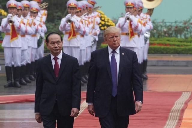 ctn tran dai quang donald trump  15375180626852096896743 - Hình ảnh Chủ tịch nước Trần Đại Quang trong những sự kiện nổi bật