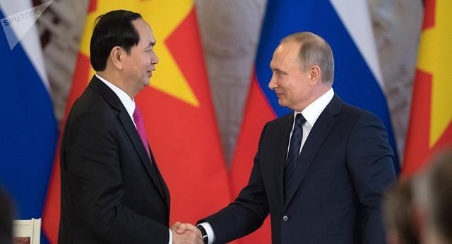 ctn tran dai quang putin 15375180626941427541956 - Hình ảnh Chủ tịch nước Trần Đại Quang trong những sự kiện nổi bật