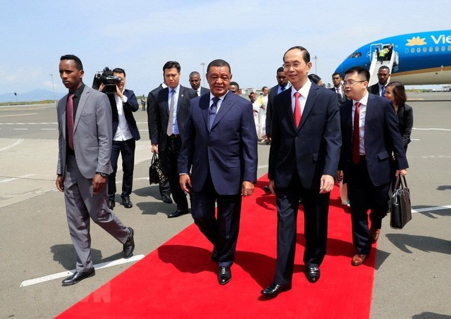 ctn tran dai quang tt mulatu teshome 1537518062704982278584 - Hình ảnh Chủ tịch nước Trần Đại Quang trong những sự kiện nổi bật