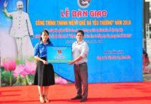 Đoàn Khối các cơ quan tỉnh bàn giao biểu trưng công trình cho Công ty Cổ phần Môi trường đô thị Nha Trang