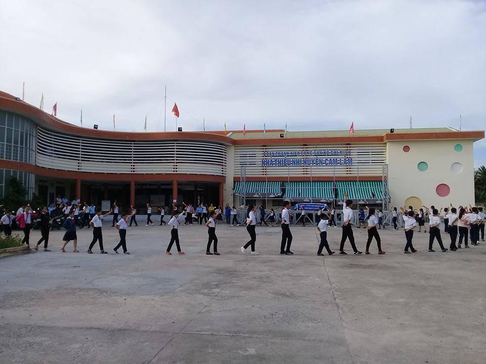 CAM LÂM:  Lớp tập huấn Ban Chỉ huy Liên, Chi đội các trường TH, THCS 1