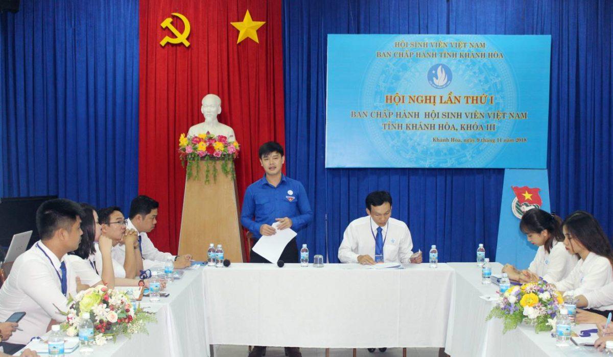 img 7276 copy - 100% Đại biểu chính thức tham dự Phiên thứ nhất Đại hội Đại biểu Hội Sinh viên Việt Nam tỉnh Khánh Hòa lần thứ III, nhiệm kỳ 2018 - 2023.