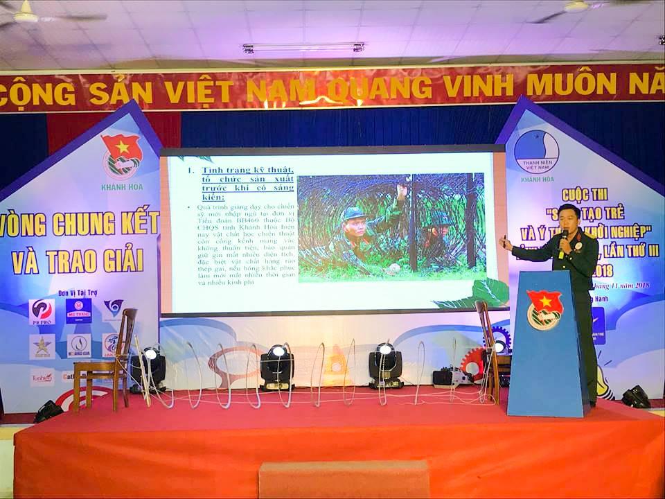"""Tổng kết, trao giải cuộc thi """"Sáng tạo trẻ và ý tưởng khởi nghiệp"""" trong đoàn viên thanh niên tỉnh Khánh Hòa lần thứ III - năm 2018 4"""