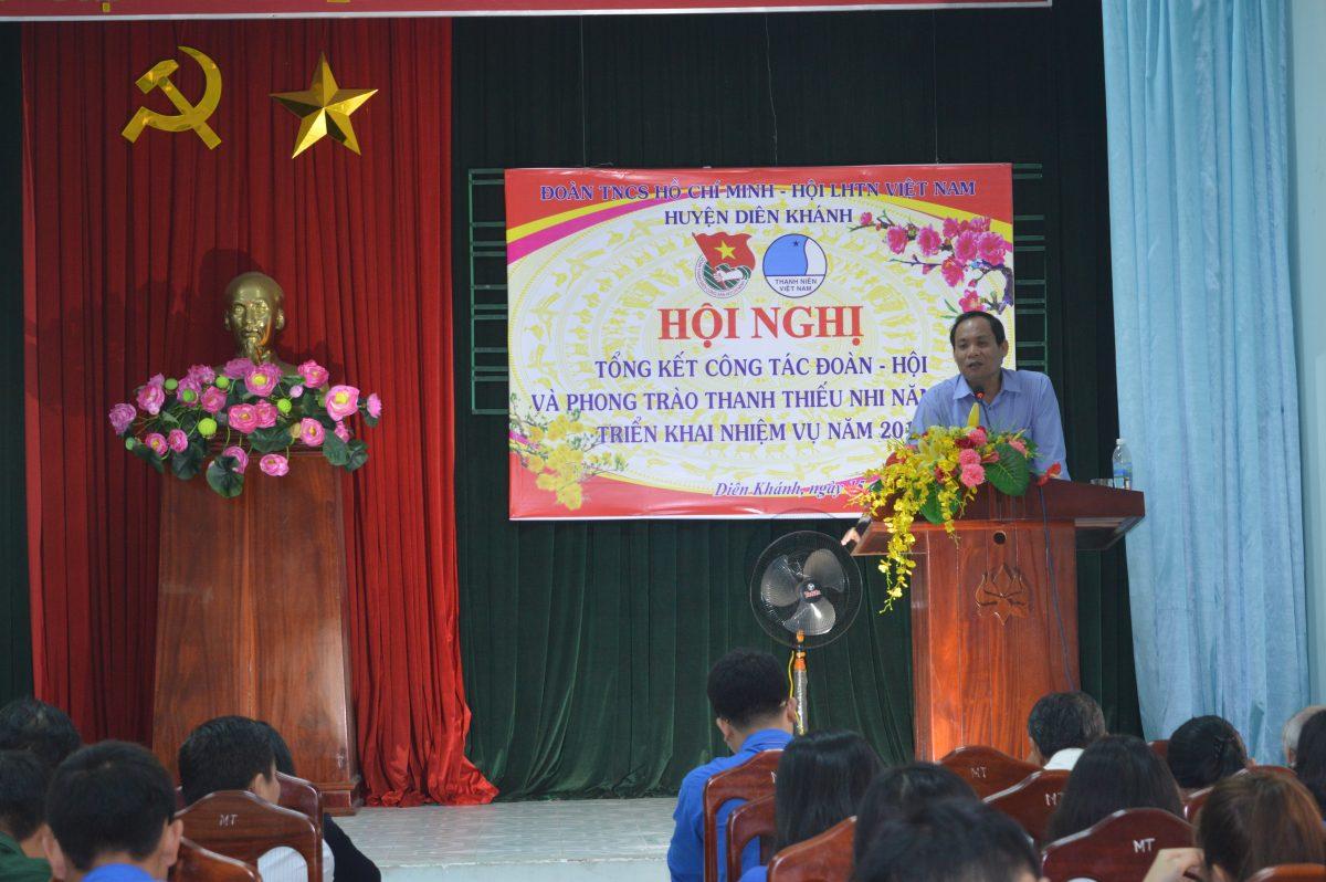 Đồng chí Nguyễn Văn Ghi - Bí thư Huyện ủy Diên Khánh phát biểu chỉ đạo tại Hội nghị