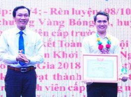 Sinh viên Nguyễn Thanh Tài được Hội Sinh viên Việt Nam tỉnh biểu dương là Sinh viên 5 tốt.