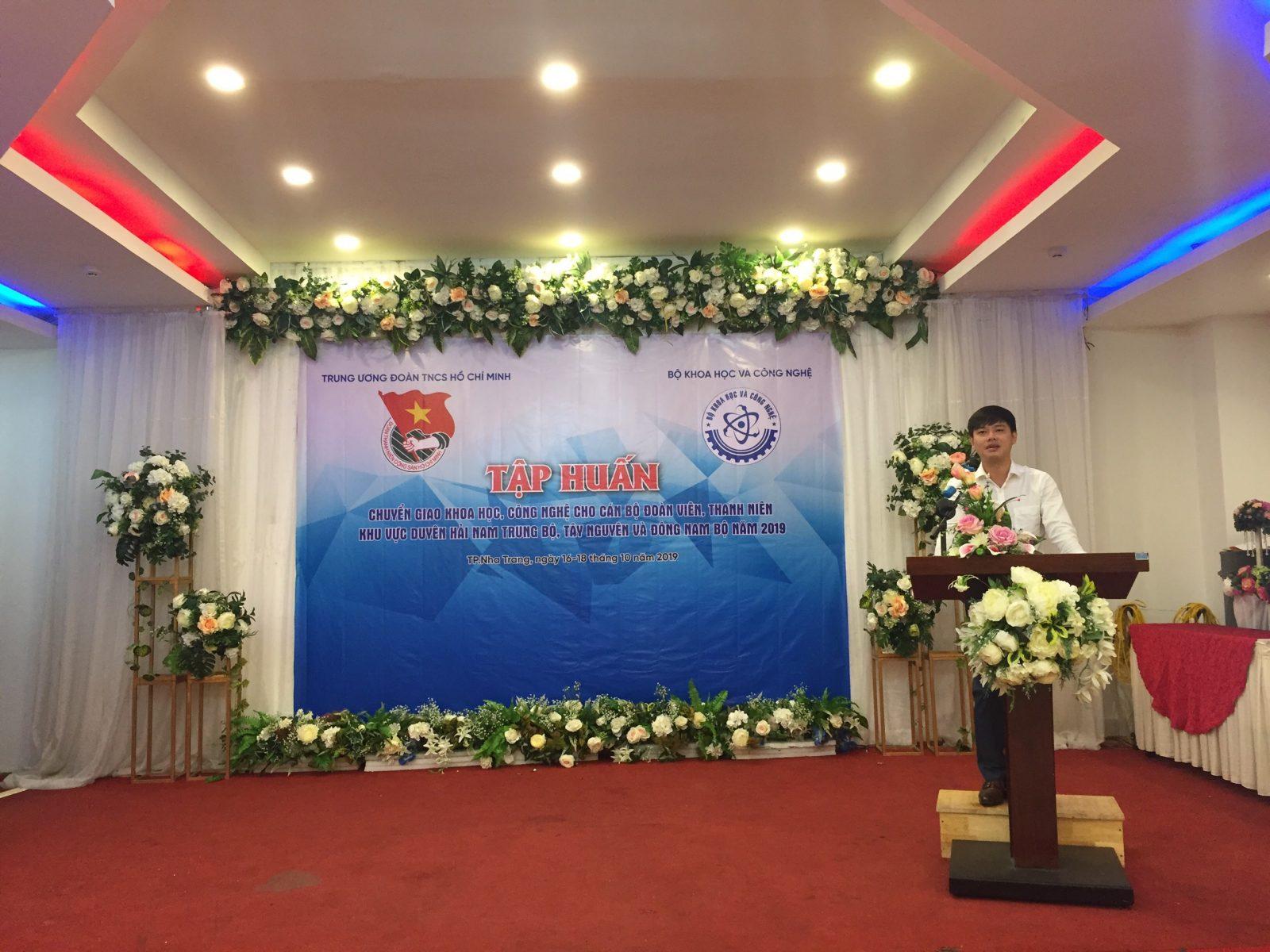 Đồng chí Bùi Hoài Nam – Ủy viên Ban Chấp hành Trung ương Đoàn, Bí thư Tỉnh đoàn Khánh Hòa