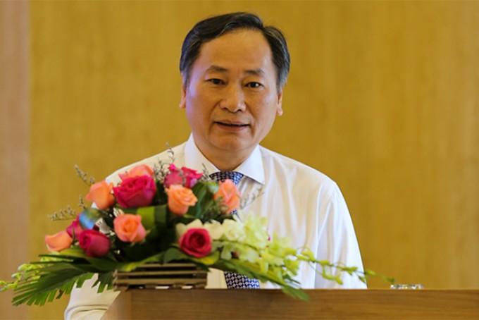 Ông Nguyễn Đắc Tài biểu dương thành tích các HLV, VĐV tại buổi gặp mặt.