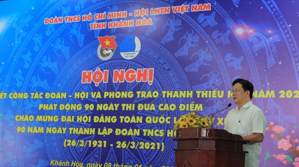 Đồng chí Hồ Văn Mừng, Ủy viên Ban Thường vụ Tỉnh ủy, Trưởng Ban Tuyên giáo Tỉnh ủy phát biểu chỉ đạo