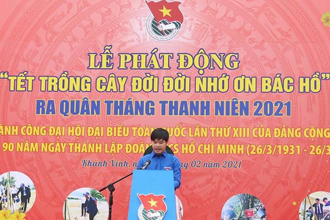 Ông Bùi Hoài Nam phát động Tết trồng cây đời đời nhớ ơn Bác Hồ và ra quân Tháng Thanh niên năm 2021